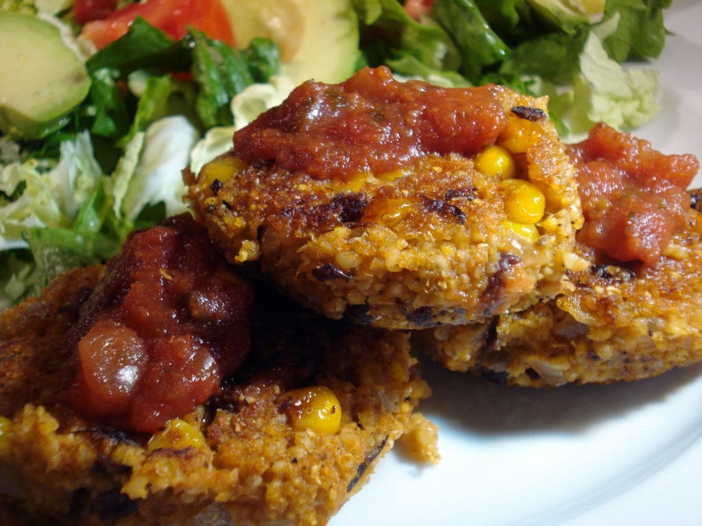 millet black bean corn patties photo 1024x768
