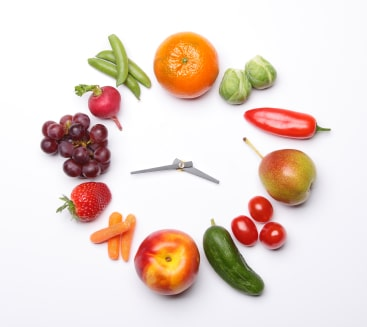 [vegetable clock image]