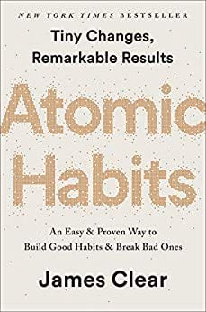 Cover of Atomic Habits by James Clear